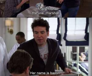 how i met your mother, bacon, and himym image