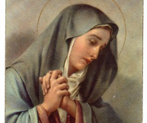 graces, rosary, and Virgin Mary image
