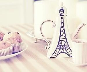 paris, tea, and muffin image