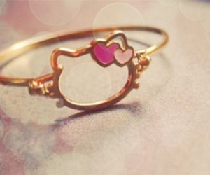 hello kitty, ring, and pink image