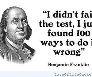 funny, test, and benjamin franklin image