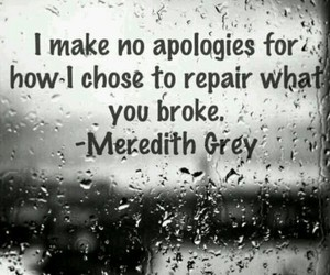 quote, grey's anatomy, and broken image