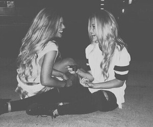 best friends, blonde, and black & white image