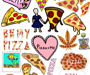 Collage, fun, and pizza image