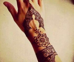 tattoo, hena, and hand image