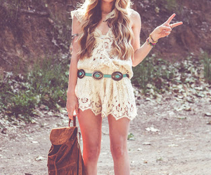 boho, boots, and outfit image