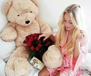 blonde, gift, and girl image