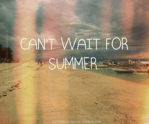 summer, beach, and text image