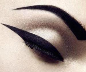 black, dark, and eyeliner image