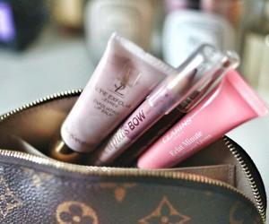 makeup, Louis Vuitton, and pink image