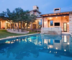 garden, luxury, and pool image