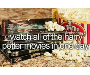 harry potter, movies, and bucket list image