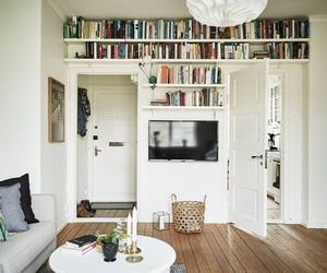 book, living room, and read image