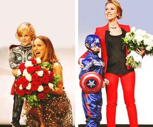 captain america, natalie portman, and Scarlett Johansson image