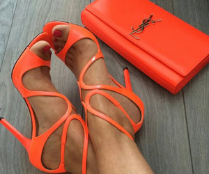 fashion, shoes, and orange image