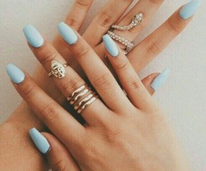 blue, hands, and rings image