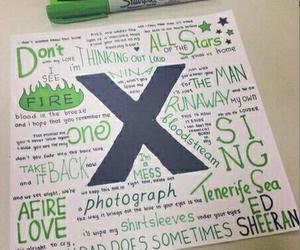 ed sheeran, x, and song image