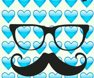 cool, glasses, and hearts image
