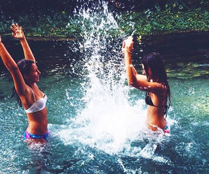 summer, friends, and water image