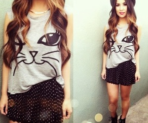 fashion, cat, and girl image