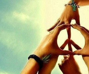 peace, together, and frieden image