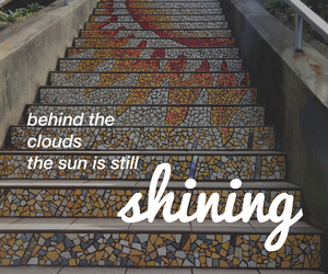 sun, quotes, and shining image