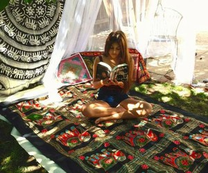 reading, summer, and book image