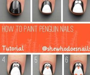 diy, nails, and penguins image