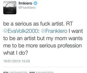 frank iero, funny, and jokes image