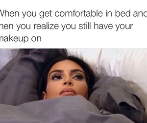 bed, funny, and kim image