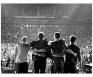 coldplay, band, and black and white image