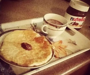 breakfast, food, and nutella image