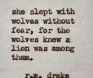 wolf, lion, and quotes image