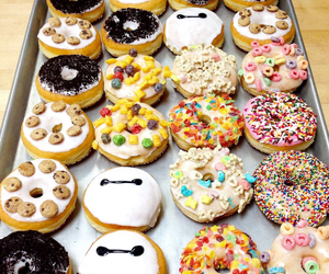 cereal, doughnuts, and donuts image