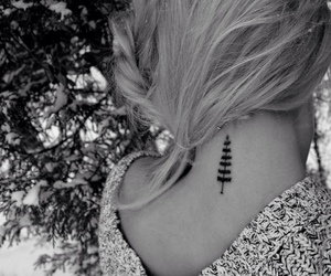 tattoo, girl, and tree image