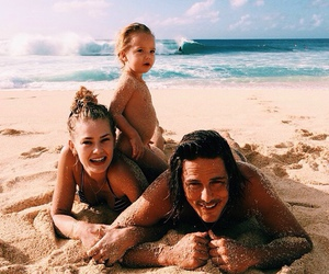 beach, family, and love image