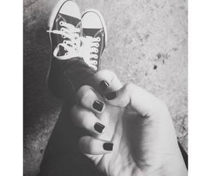 black, converse, and nailpolish image