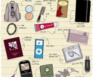 doodle and whats in my bag image