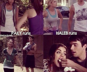 pretty little liars, ezria, and haleb image