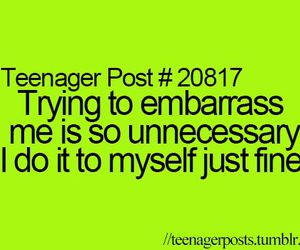 teenager post, funny, and embarrass image