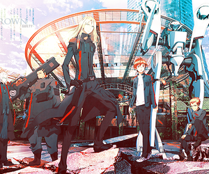 guilty crown, gai, and shu image