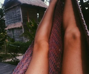 legs, summer, and tan image
