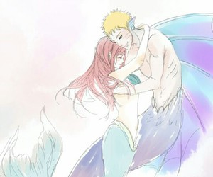 mermaid, naruto uzumaki, and sakura haruno image
