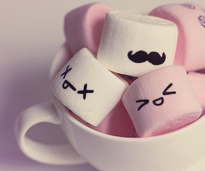 marshmallow, pink, and sweet image