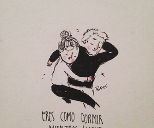 love, couple, and dormir image