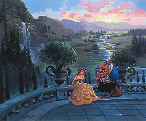 beast, prince, and beauty and the beast image
