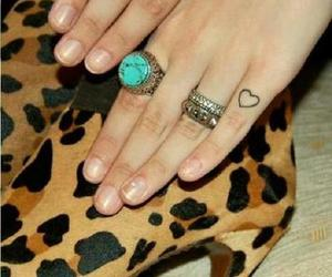 accesories, rings, and tattoo image