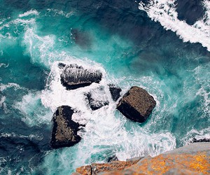 beach, rock, and fresh image