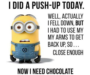 minions, chocolate, and funny image