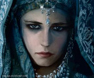 blue, eva green, and jewelry image